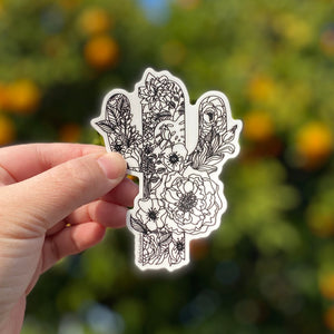 Blooming Saguaro Sticker