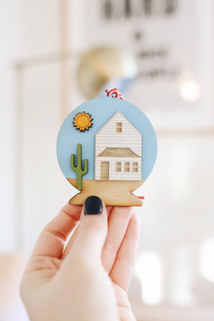 Desert Snow Globe Ornament