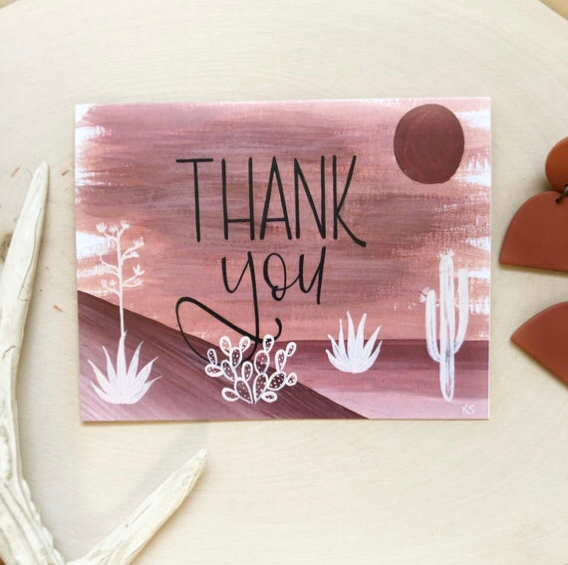 Thank You Desert Hue Greeting Card