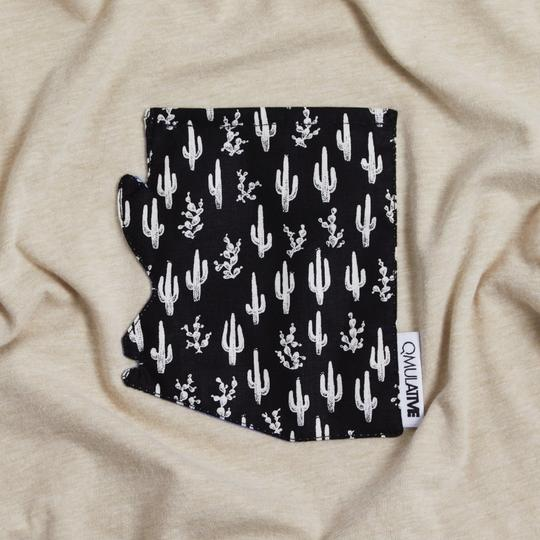 AZ Pocket Tee | Black/White Saguaro