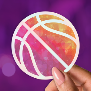 Basketball Love Holographic Sticker