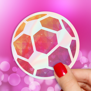 Soccer Love Holographic Sticker