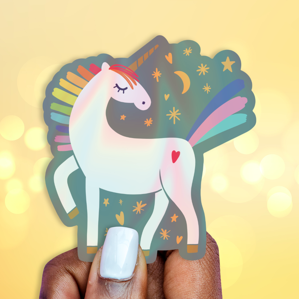 Unicorn Sparkles Holographic Sticker