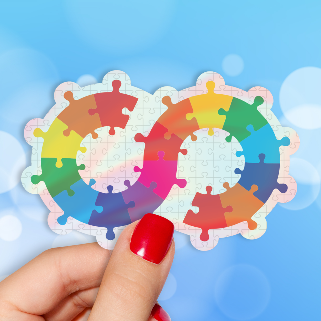 Autism Endless Possibilities Holographic Sticker