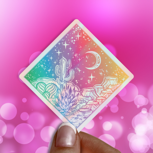 Cosmic Desert Holographic Sticker