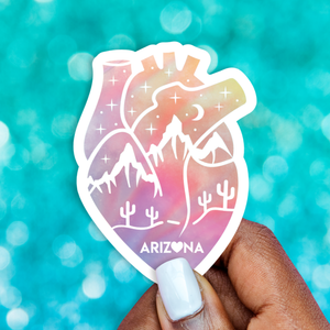 Te Amo Arizona Holographic Vinyl Sticker