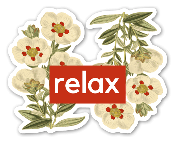 Relax Floral Sticker