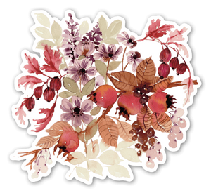 Fall Floral Botanical Sticker