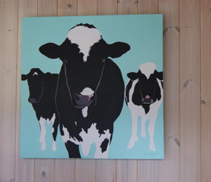 We Three 60cm x 60cm