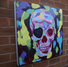 Load image into Gallery viewer, Disco Skull. 60cm x60cm.