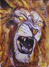 Load image into Gallery viewer, Yellow Eyed Beast. 21cm x 28cm.