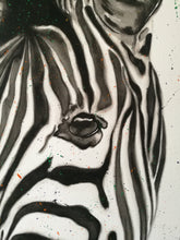 Load image into Gallery viewer, Watercolour Zebra. On paper. 42cm x 59.4cm.