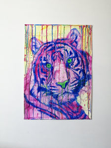 Radient Beast. Watercolour Tiger on paper. 42cm x 59.4cm.