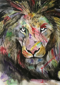 The Colourful King. Watercolour on paper. 42cm x 59.4cm.