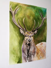Load image into Gallery viewer, Dignified Being. Watercolour on paper. 42cm x 59.4cm.