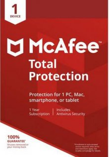MCAFEE TOTAL PROTECTION LITE VERSION 1 DEVICE - planetcomputeronline