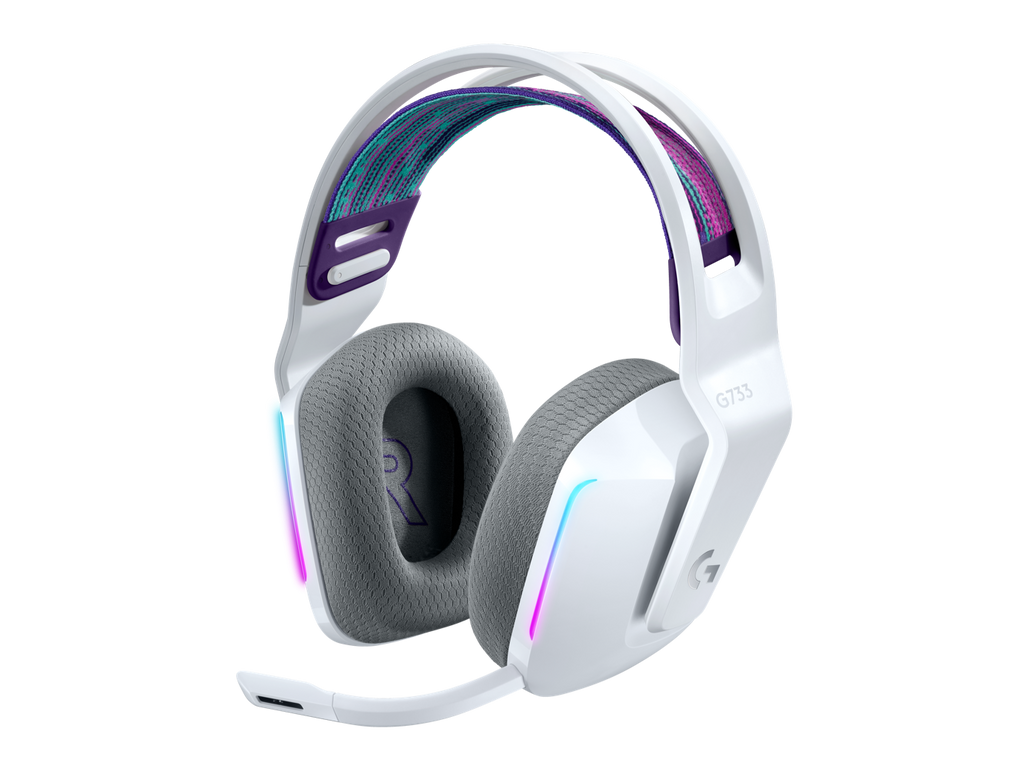 HEADSET LOGITECH GAMING WIRELESS G733 WHITE