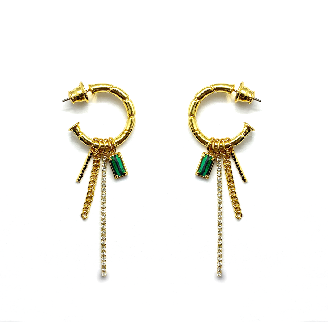 Porte-Clés Hoop Drop Earrings