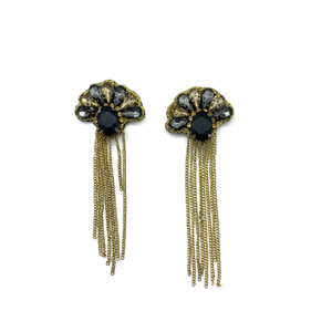 Vieira Stud Fringe Earrings