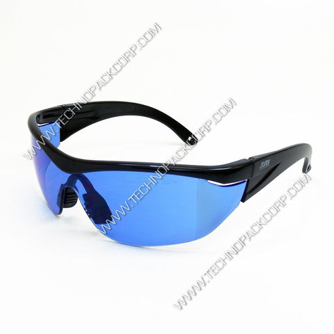 LS-282 -Safety Glasses with Side Shields - Black Frame with Clear, Green, Blue, Yellow/Amber Lens