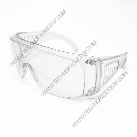 LS-203 Safety Glasses - Impact Resistant Polycarbonate - Overglasses