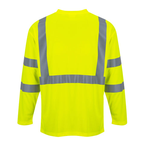 S191 - Hi-Vis Long Sleeve Pocket T-Shirt