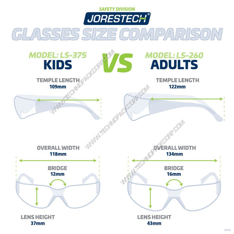 LS-375-CL - Safety Glasses for Kids/Children - Clear