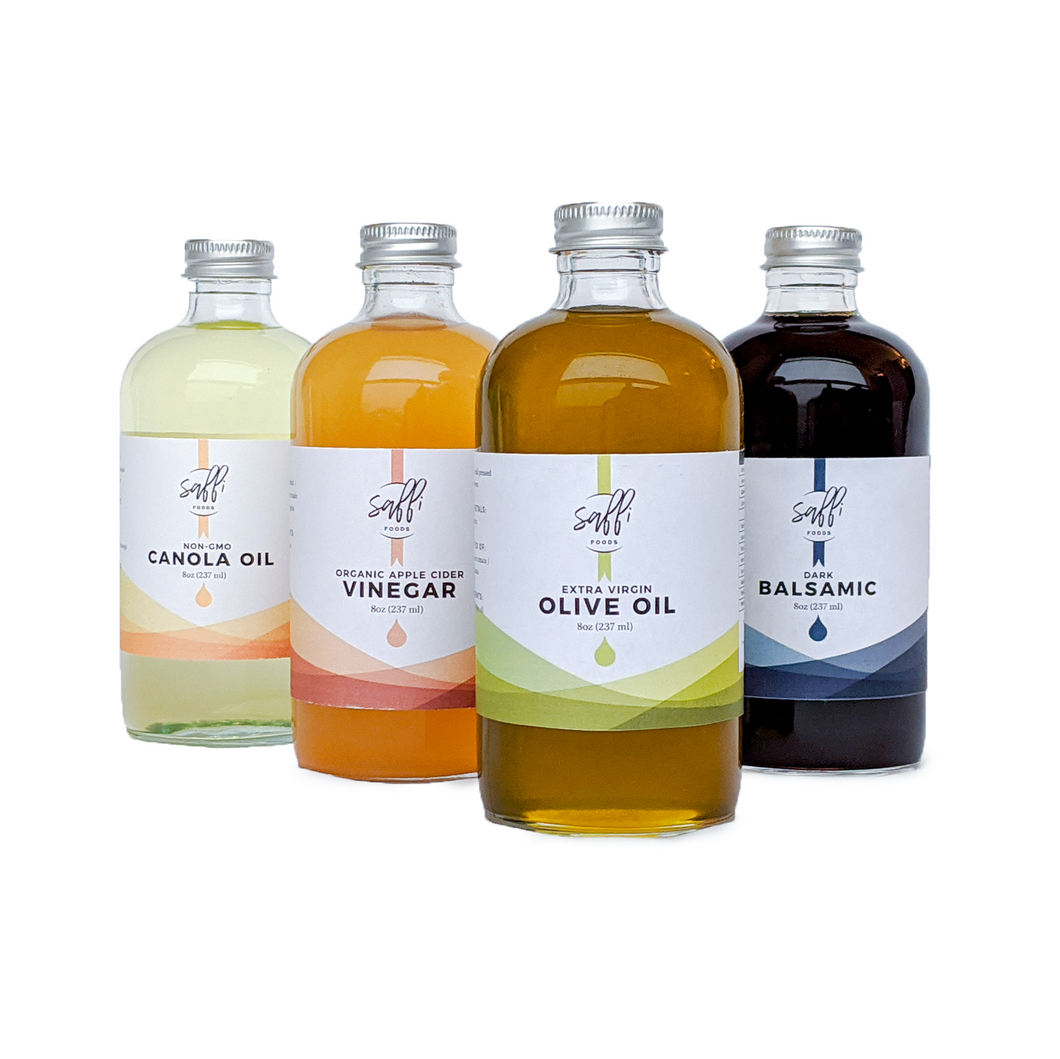 4 Bottles of Oil and Vinegar - Variety Pack (8oz)