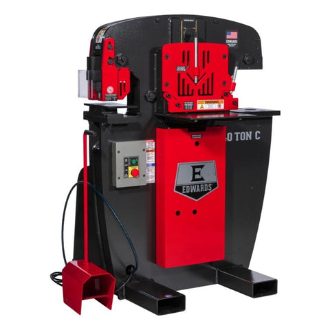 Edwards Jaws 40 ton C Ironworker - Free Freight