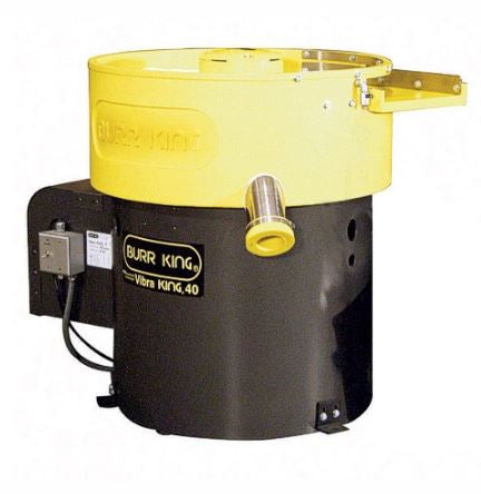 Burr King 4.0 cubic foot Vibra King Large Vibratory Bowl, Variable Speed with Dual Timer
