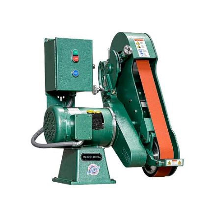Burr King 960-250, 2-1/2 x 60 inch 2 Wheel Vertical/Horizontal Belt Grinder, Variable Speed