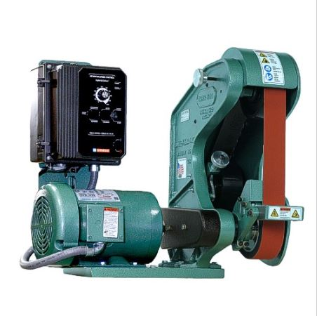 Burr King 482, 2 x 48 inch 3 Wheel Belt Grinder, Variable Speed