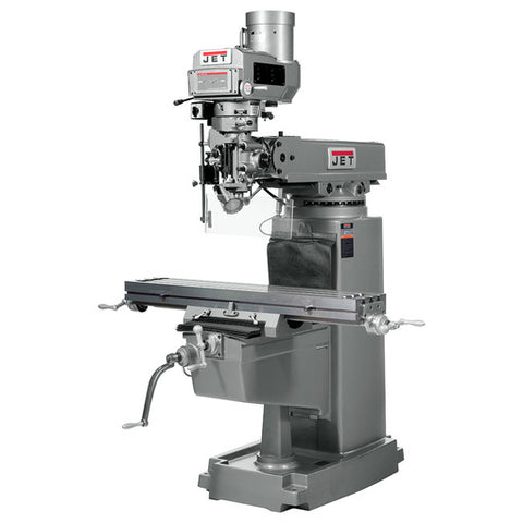 JET 692206 JTM-1050VS2 MILL WITH NEWALL DP700 DRO WITH X AND Y-AXIS POWERFEEDS