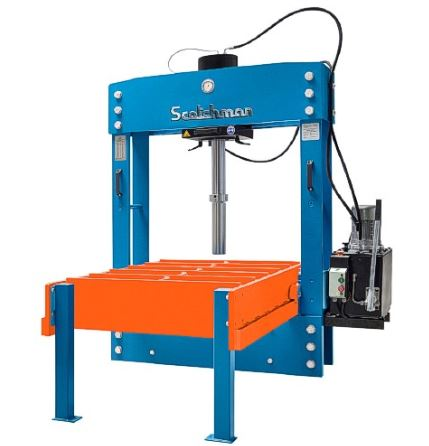 Scotchman PressPro Electric H-Frame Press with Table, 160 ton