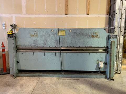 Used Roto-Die Model 10 Hydraulic Press Brake Bender 10' x 16 GA