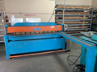 Used Pexto 6' X 10 Gauge mild steal shear