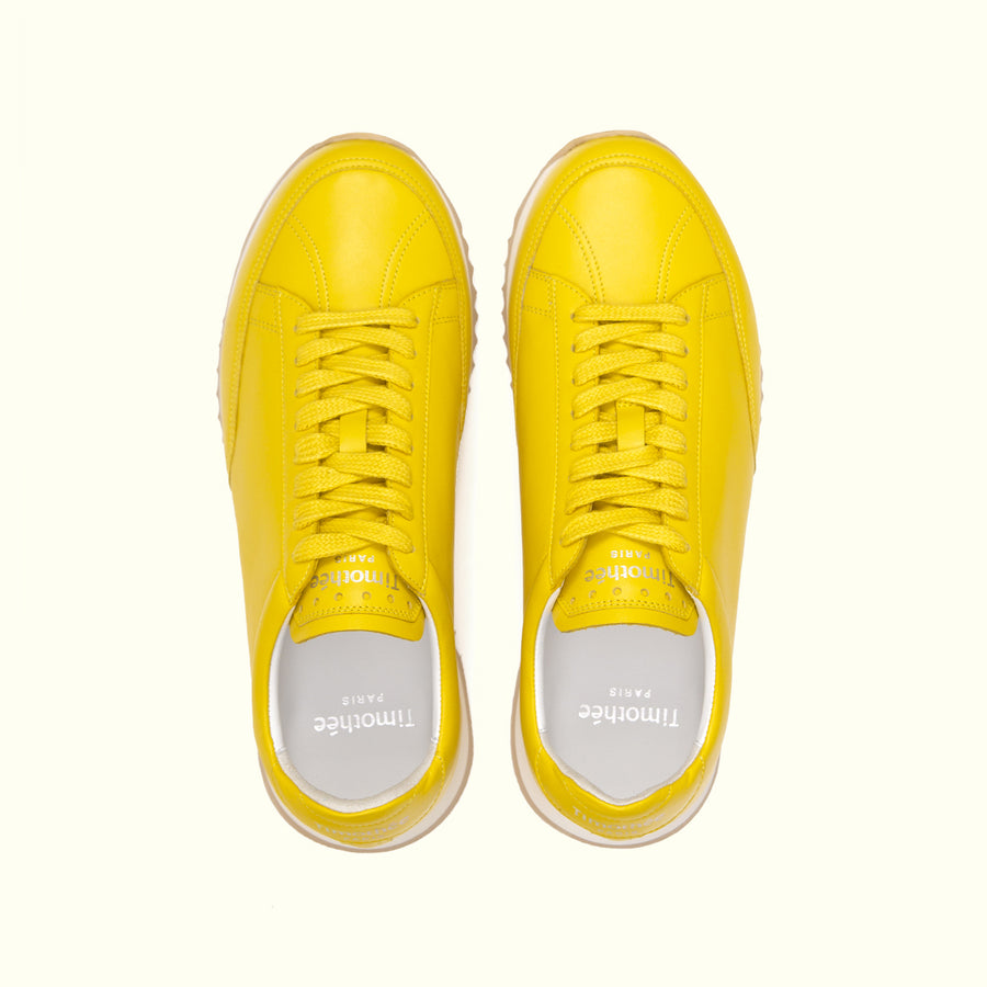 sneaker-cabourg-nappa-butter-yellow-timothee-paris-upper-view-lifestyle-brand-big-size-picture-women