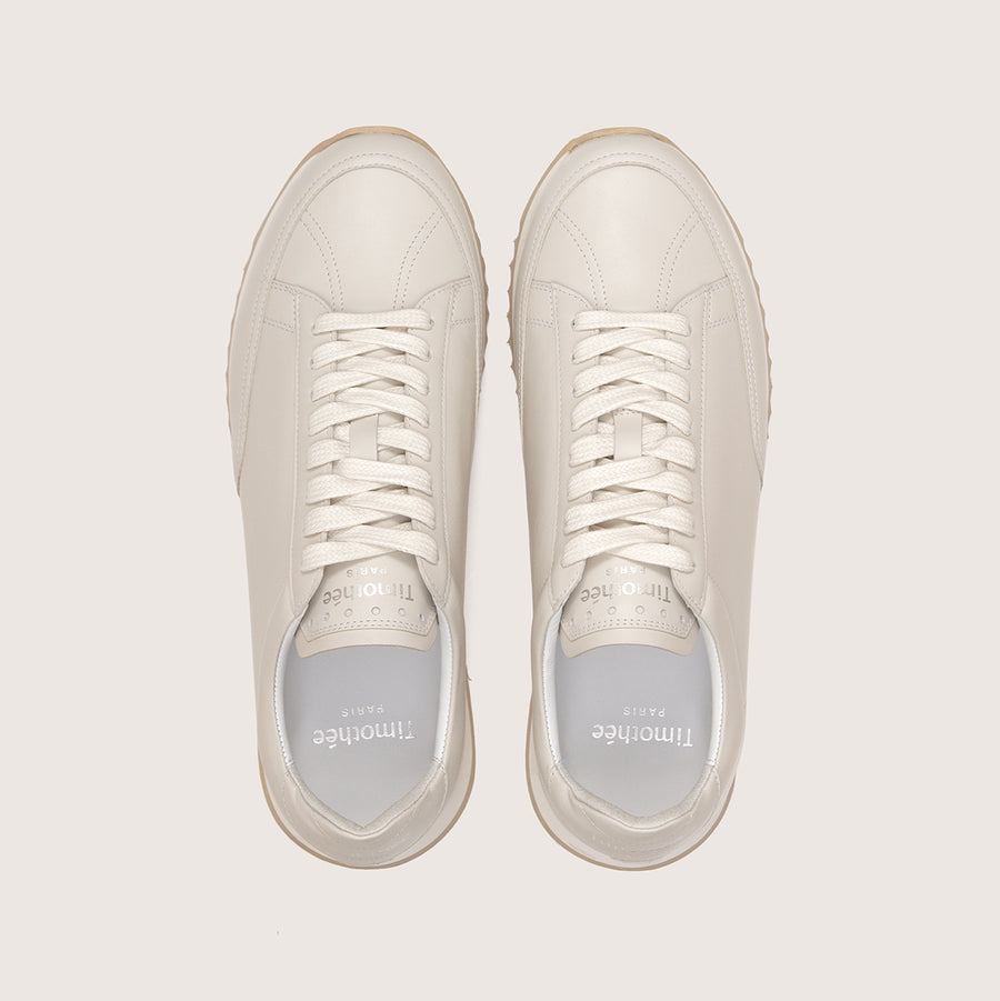 sneaker-cabourg-nappa-vanilla-color-timothee-paris-upper-view-lifestyle-brand-small-size-picture