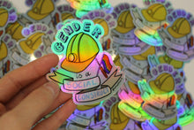 "Load image into Gallery viewer, ""Gender Is A Social Construct"" die cut sticker - Afroditi's Art"