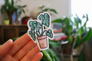 """Plant Friends"" sticker sheet - Afroditi's Art"