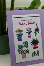 "Load image into Gallery viewer, ""Plant Friends"" sticker sheet - Afroditi's Art"