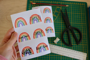 """Rainbow"" sticker sheet - Afroditi's Art"