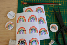 "Load image into Gallery viewer, ""Rainbow"" sticker sheet - Afroditi's Art"