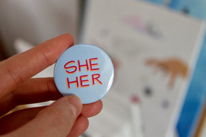 """Pronoun"" badge - Afroditi's Art"