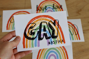 "Rainbow - ""Gay *as fuck"" print - Afroditi's Art"