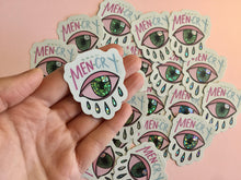 "Load image into Gallery viewer, ""Real Men Cry"" die cut sticker - Afroditi's Art"