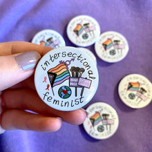 "Load image into Gallery viewer, ""Intersectional Feminist"" badge - Afroditi's Art"