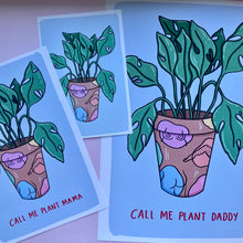 "Load image into Gallery viewer, ""Colorful Plant Pot"" print - Afroditi's Art"