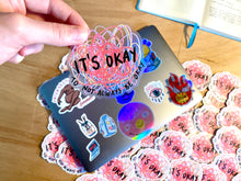 "Load image into Gallery viewer, ""It's Okay To Not Always Be Okay"" die cut sticker - Afroditi's Art"