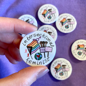 """Intersectional Feminist"" badge - Afroditi's Art"